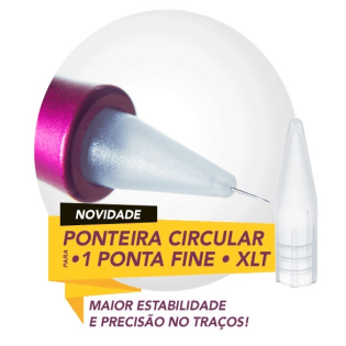 Agulha Dermomag 1 ponta Fine + Ponteira