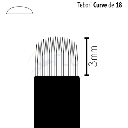 Caneta Tebori Can Can Flox Curve 18-3