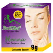 Kit Henna Bolibel Castanho Escuro 9g