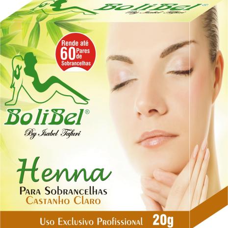 Kit Henna Bolibel Castanho Claro 20g