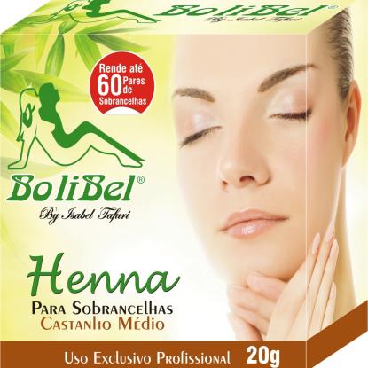 Kit Henna Bolibel Castanho Médio 20g