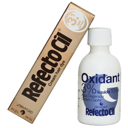Kit Refectocil Castanho Claro 3.1 - 50ml