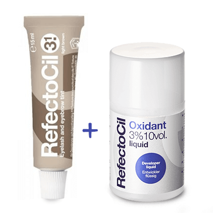 Kit Refectocil Castanho Claro 3.1 100ml